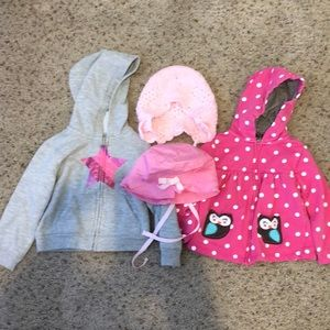 24 month Jackets and hats